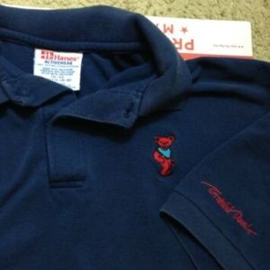 Vintage 90s Grateful Dead Dancing Bear Logo Polo